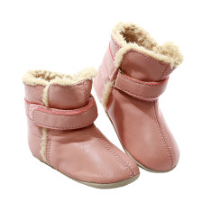 Pre-walker snug booties in pink