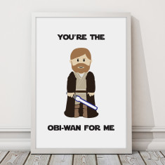 Star Wars - Obi-Wan Love Print