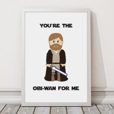 Star Wars - Obi-Wan Love Print