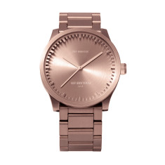 Leff Amsterdam tube watch S38 rose gold finish