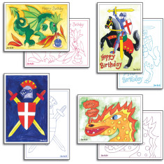 Knights and dragons card making pack