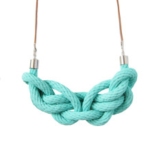 Paris knot necklace in turquoise