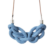 Paris knot necklace in chambray