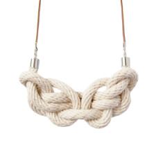 Knot necklace in natural