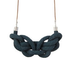 Paris knot necklace in navy