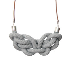 Paris knot necklace in smoke