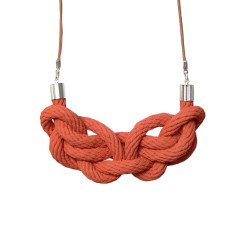Paris knot necklace in terracotta