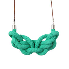Paris knot necklace in jade