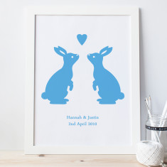 Personalised Love Bunnies Print