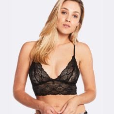 Fine Lace Bralette In Black