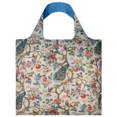 LOQI reusable bag in museum collection in peacock with peonies