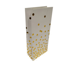 Gold confetti paper treat bags (2 packs)