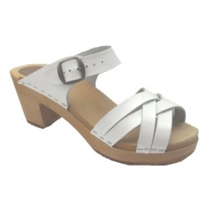 Sandal White Patent High