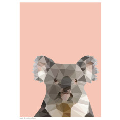 Geometric koala art print