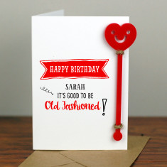 Old Fashioned Cocktail Birthday Card with Cocktail Stirrer