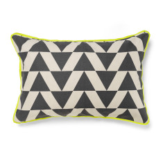 Kolmio charcoal standard pillowcase (each)