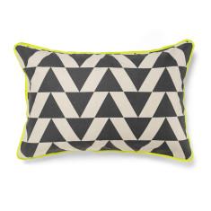 Kolmio charcoal standard pillowcase (each)