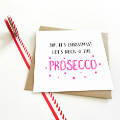 Yay! It's Christmas prosecco card