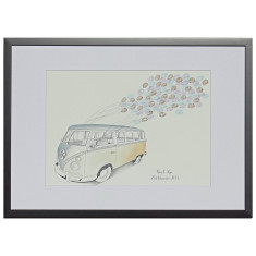 Framed Kombi fingerprint guestbook