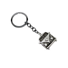 Kombi Van sterling silver key chain