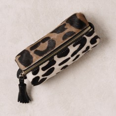 Make Up Bag in Big Leopard