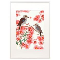 Bloom kookaburra print