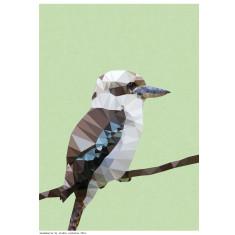 Geometric kookaburra art print