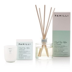 Italia Candle & Diffuser Duo - Fig Melon & Coconut Fragrance