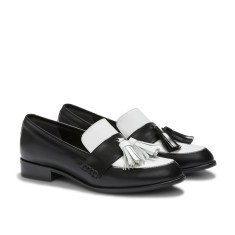 Ecstasy tassel loafers in Black and White