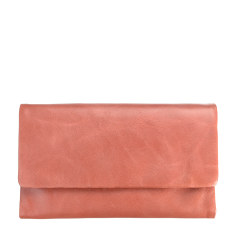Audrey leather wallet in pink