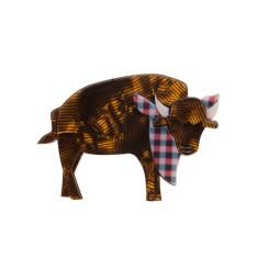 Erstwilder Billy Bob bison brooch