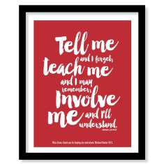 Personalised teacher thank you print (you choose colour)