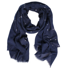 Apollo stars metallic print wool silk scarf (various colours)