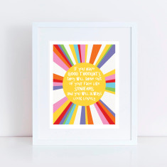 Sunbeams good thoughts art print