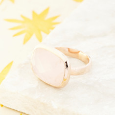 Candy Ring In Rose Gold With Rose Quartz