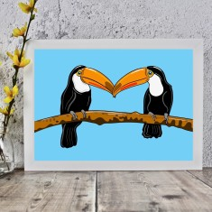 Toucan Couple Print