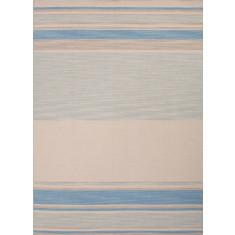 Pastel blue handmade flat weave wool rug