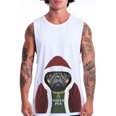Santa Pug men's muscle tank
