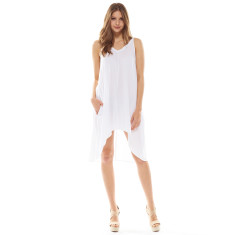 Palm Dress White