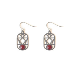 Stainless Steel Nevada Earrings Carnelian