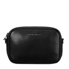Plunder leather bag in black