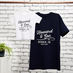 Personalised Vintage Father And Son T Shirt Set