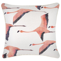Outdoor Cushion Cover-Flying Flamingos (various sizes)