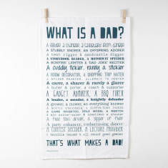 What is a Dad? Poem tea towel