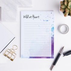 Personalised Wild at Heart A5 Notepad