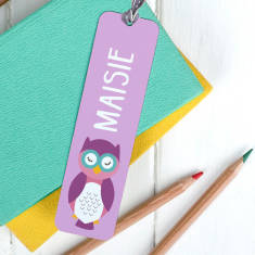 Children's Personalised Cute Animal Bookmark