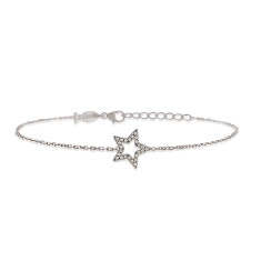 Star bracelet with genuine cubic zirconia