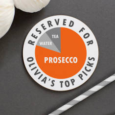 Personalised 'Top Picks' Pie Chart Drinks Coaster