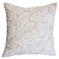 Ku-ring-gai square cushion cover in white on natural
