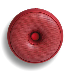 Portable Bluetooth speaker Hoop metallic red
